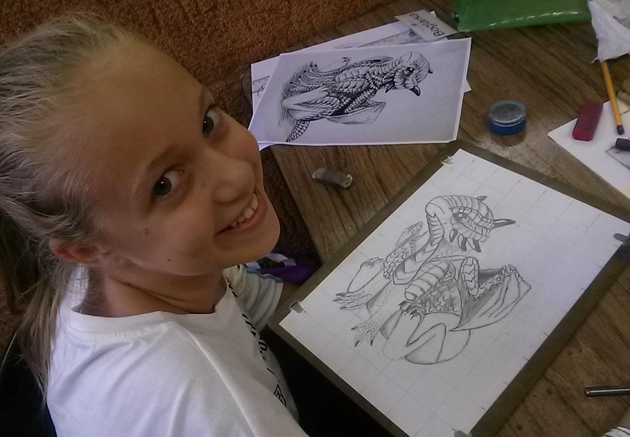 sárkány rajz_bébi