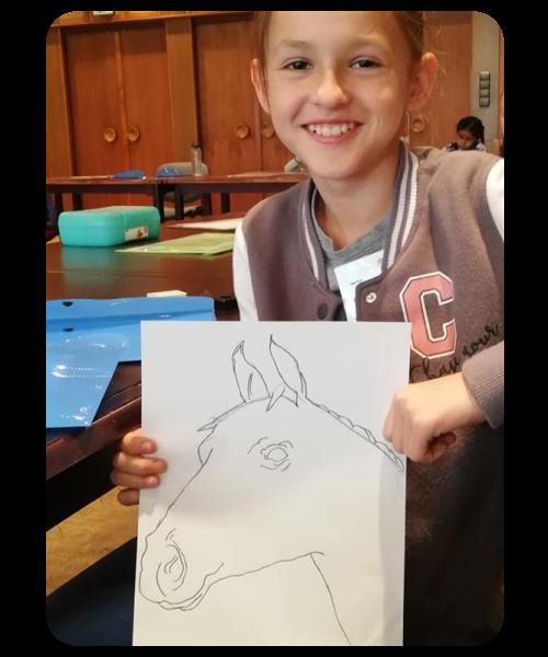 jobb agyféltekés rajz ló