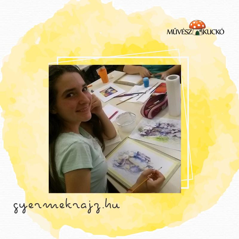 Akvarell festés online tanfolyam gyerekeknek4