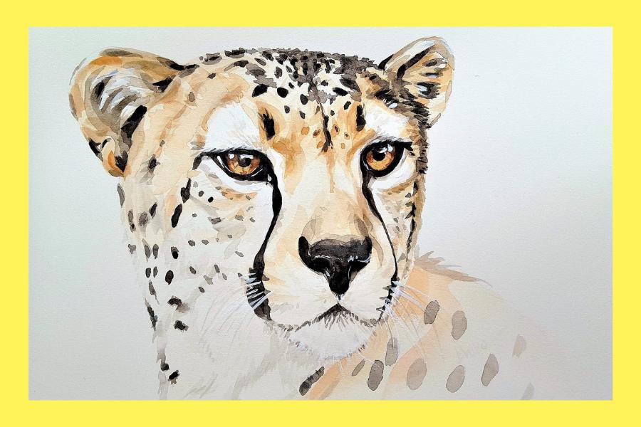online akvarell festés gyerekeknek