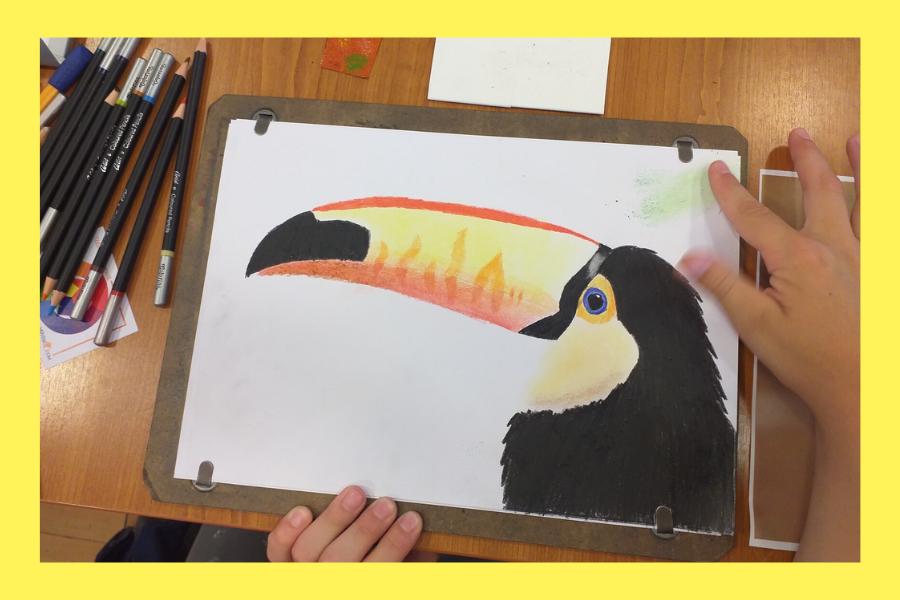 online színes ceruzás rajztanfolyam gyerekeknek